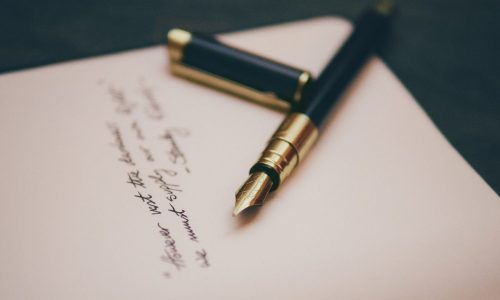 fountain pen and contract