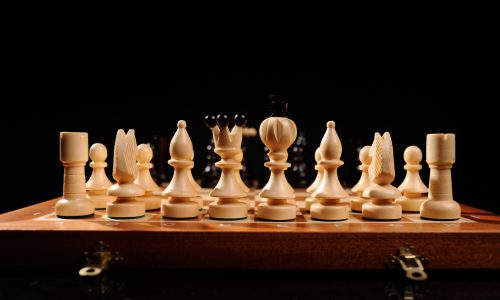 Chess wooden pieces