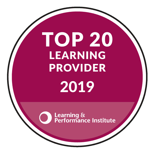 Learning & performance institute Top 20 Learning Provider 2019