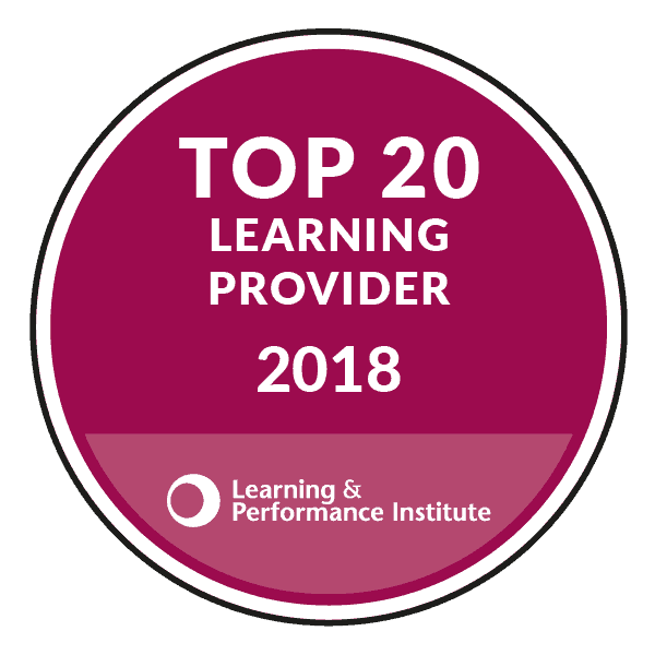 Learning & performance institute Top 20 Learning Provider 2018