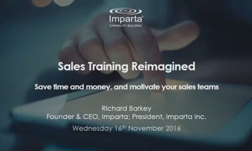 Webinar Recording Sales Training Reimagined