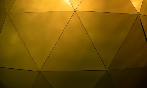 gold smooth triangles