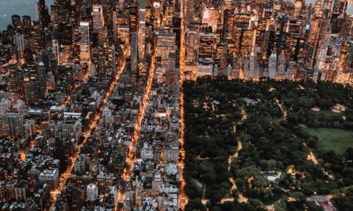 new york city arial view