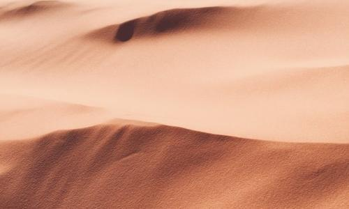 pink desert sand