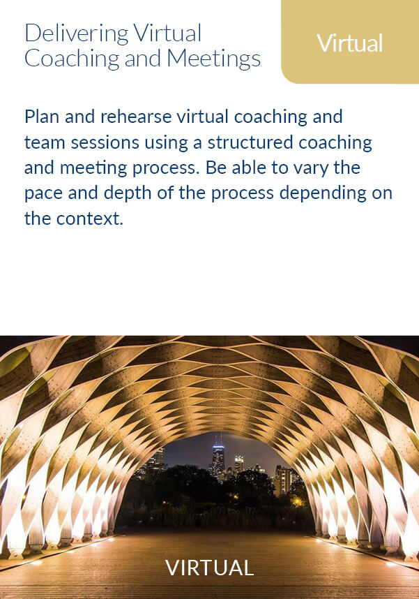 delivery virtual coaching and meetings